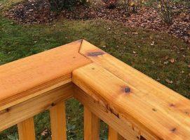 Tight Knot Cedar Deck